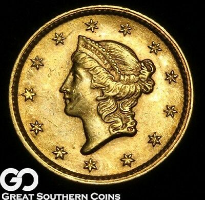 1853 Gold Dollar, $1 Gold Liberty, Brilliant Uncirculated, Nice! ** Free S/H
