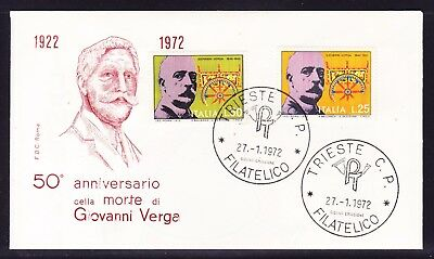 "Italy 1972 Giovanni Verga Writer ""Roma"" First Day Cover"