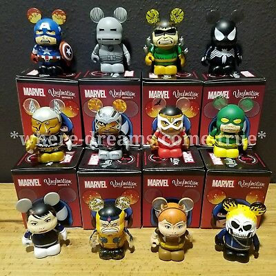 Disney Vinylmation Marvel Series 4 Set Of 12 includes Ghost Rider Chaser NEW