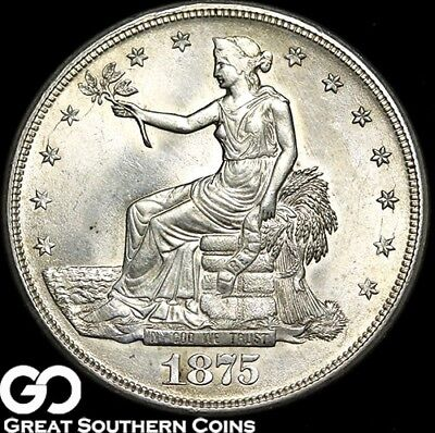 1875-S Trade Dollar, Lustrous Brilliant Uncirculated++ ** Free Shipping!