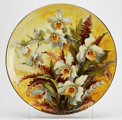 Doulton Lambeth Faience Floral Plaque Florence Lewis 19Th C