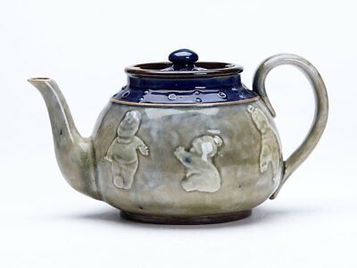 Doulton Lambeth Teapot With Babies Bessie Newbery