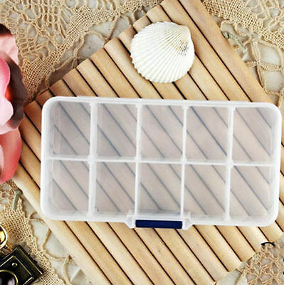 1 PC Empty Storage Case Box 10 Cells for Nail Art Tips Gems