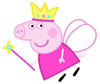 "Peppa Pig Fairy Iron On Transfer 5"" x 5.75"" for LIGHT Colored Fabric"