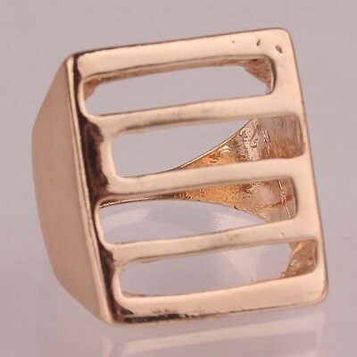 5pcs Wholesale Woman Man 14k Gold Filled US size 8 Square Ring Jewelry C145