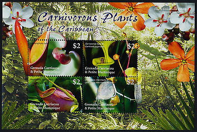 Grenada Grenadines 2582 MNH Carnivorous Plants, Insects