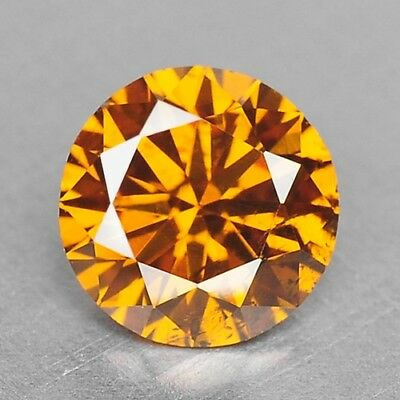 0.39 Cts FANCY TOP SPARKLING QUALITY ORANGE YELLOW COLOR NATURAL DIAMONDS