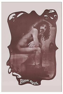 Phi-Crappa Zappa:  Frank Zappa in Unusual Photo Poster