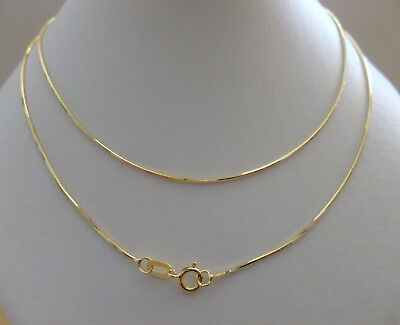 9ct Solid Yellow Gold Snake Chain Necklace - 45cm's 18 Inches N17