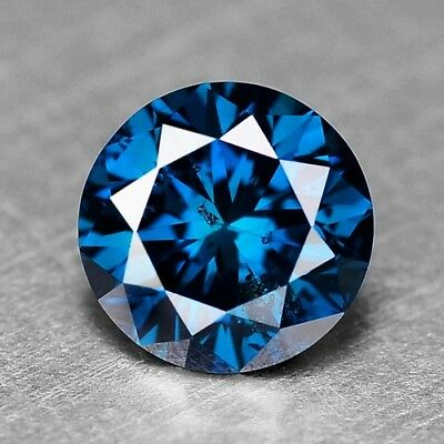 1.34 Cts RARE GIL CERTIFIED SPARKLING ROYAL BLUE COLOR NATURAL DIAMONDS