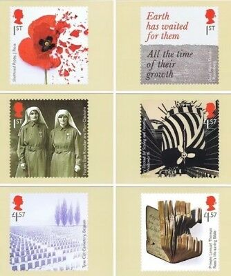 Royal Mail PHQ stamp cards THE GREAT WAR 31/07/2017