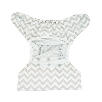Alva Baby Diaper Cover Gray Snaps With Double Gussets Waterproof PUL