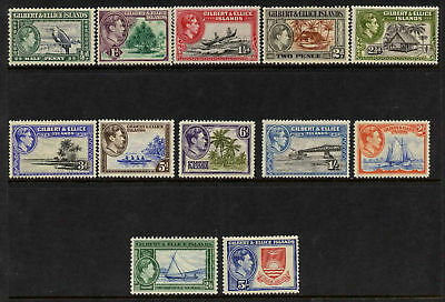 Gilbert & Ellice 40-21 MNH/MH Boats, Crest, Trees