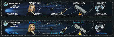 Tonga 616-7 MNH Halley's Comet, Space Probes