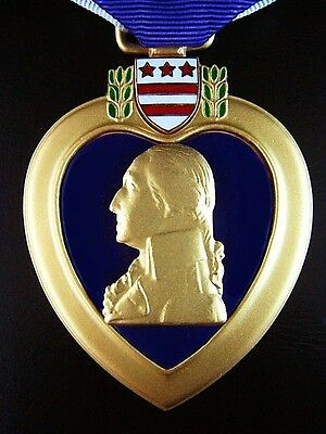 Original United States Purple Heart Medal Order Awarded For Wounds Received *