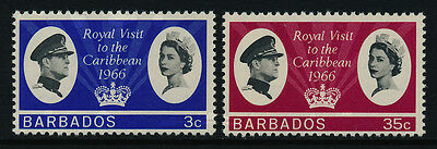 Barbados 285-6 MNH Queen Elizabeth Royal Visit