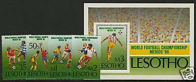 Lesotho 521-5 MNH Sports, Football, World Cup Soccer