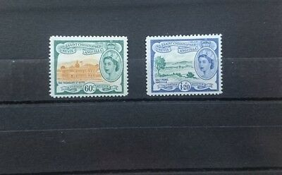 St Christopher Nevis Anguilla 1954 - 2 Values 60c and $1.20 SG116-117 - Mint