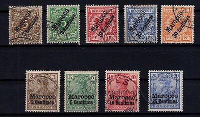 P43321/ Maroc Allemand / German Morocco / Y&t # 1 / 5 – 7 / 10 Obl / Used 102 €