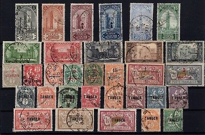P43366/ Maroc Français / French Morocco / Lot 1914 - 1918 Obl / Used 110 €