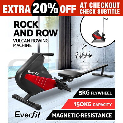 Everfit Rowing Exercise Machine Rower Resistance Magnetic Flywheel Fitness Gym