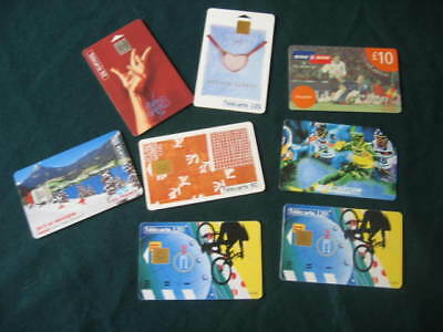 Sports Phone Cards 3x France Telecom Roland Garros 1x Telecom Italia & 1-2-1 Inc