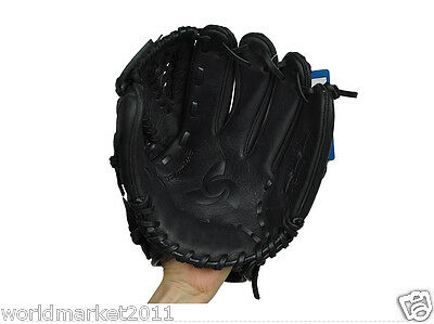 Sporting Goods Cowhide 12.75 Inches Wear-Resisting Baseball Glove Black &$