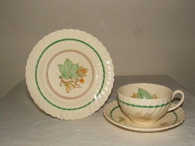 Susie Cooper Art Deco Woodland Super Shaped  Tea Trio Stunning