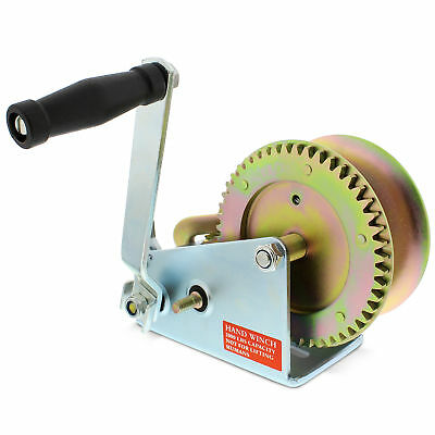 ABN 1 Ton Hand Crank Gear Winch & Cable, Heavy Duty for Trailer, Boat or ATV