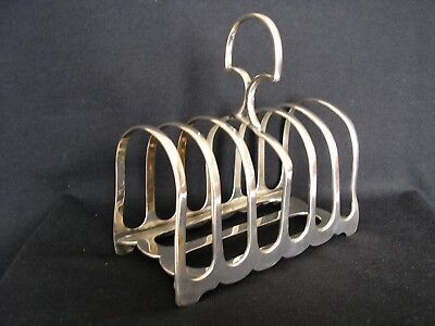 Antique Hm Silver Six Slice Toast Rack (Sheffield 1899) A/f Anyone Interested???