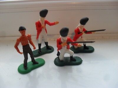innovative promotions awi 3 british soldiers+native scout, timpo britains