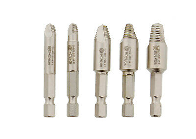 ABN® Damaged Screw Removal 5 pc Set – Stripped Screw Extractor Remover Tool Kit