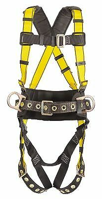 MSA Safety 10077571 Construction Harness, BACK & HIP D-rings, Standard (STD)