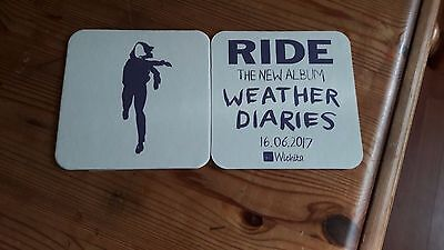 Ride weather Diaries Promo Card Coaster Beer Mat