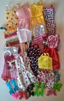 Barbie Steffi Sindy Liv Fashion Doll Dress Clothes Shoe Bundle 20 Items Assorted