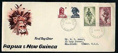 PNG 1961 4 values to 2/- on FDC