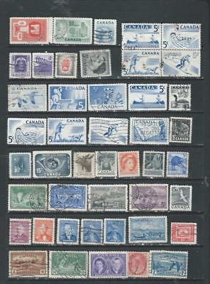 Canada lot 1 nice used selection early better Commemoratives good range , [1099)