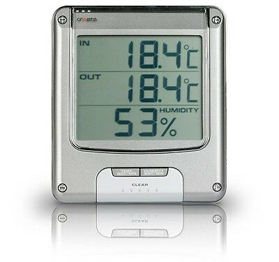 LCD Display Light Memory function top Female and Outdoor thermometer Hygrometer