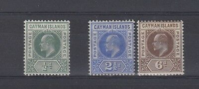 Cayman Islands 1902/05 SG8, 5 and 6 MH - see description
