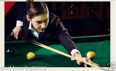 Simple British-Style Sporting Goods Length 145cm Wooden Smooth Billiard Cue