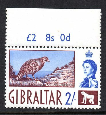 1960 GIBRALTAR QE11 2/- Barbary Partridge SG170 unmounted mint