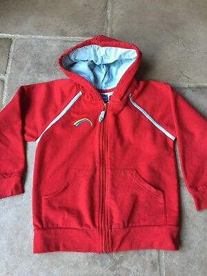Girls Rainbows Uniform Red Hoodie Size Medium