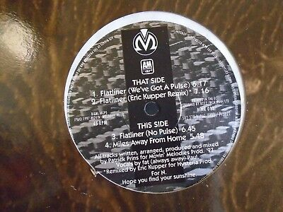 "MOVIN MELODIES ~ Flatliner ~ 12"" Single PS"