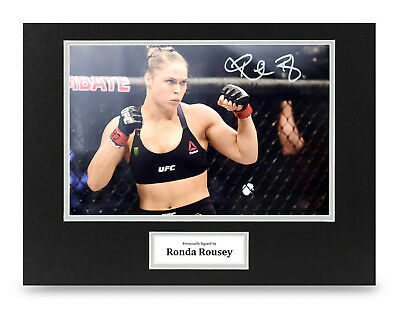 """SIGNED PP RONDA ROUSEY POSTER PHOTO 12x8/"""" AUTOGRAPH PRINT UFC WWE HIGH QUALITY"""