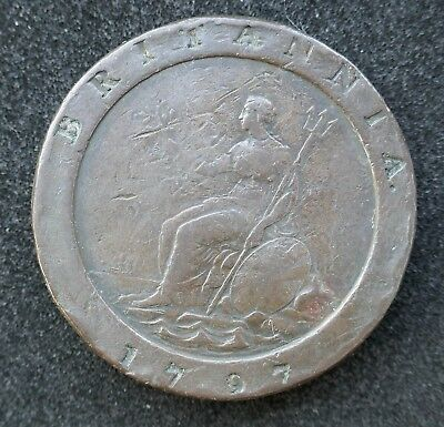 British - 1797 George III Two Pence Counterstamped