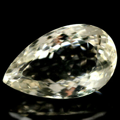 94.75 CT AAA! NATURAL! 23 X 38 mm. WHITE AFRICAN QUARTZ PEAR