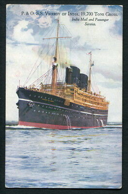 """1931 Used Col Pc P&o Liner """"viceroy Of India"""" - London Paquebot"""