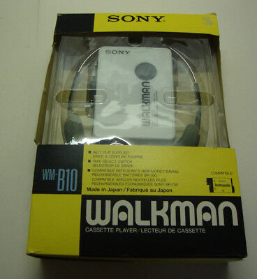 1980s boxed looks unused SONY WM-B10 WALKMAN cassette player