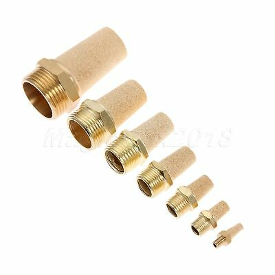 Durable Brass Threaded Pneumatic Muffler Cone Filter Silencer Sintered Fitting