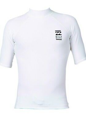 2016 Billabong Fairweather Short Sleeve Rash Vest In White W4My02. Xl